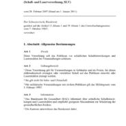 Verordnung über den Schutz des Publikums (SLV)